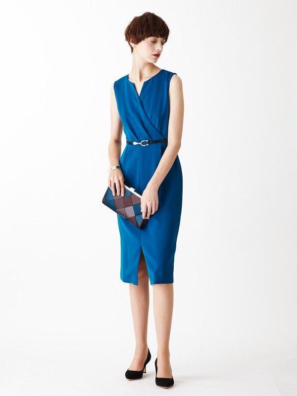 c26cf72473c9f スキッパーネックドレス Aimer Acret  商品画像