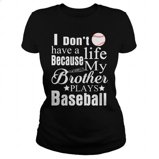 MY BROTHER PLAYS BASEBALL - #kids #fashion. MORE INFO => https://www.sunfrog.com/Sports/MY-BROTHER-PLAYS-BASEBALL-Black-Ladies.html?60505