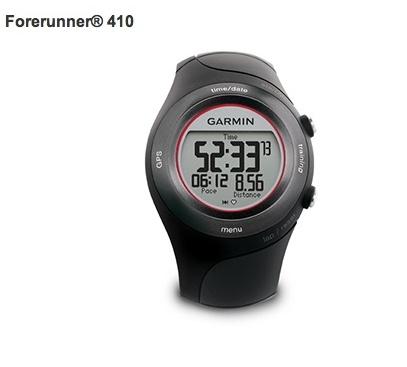 Forerunner 410    El Forerunner 410, es el reloj que permite llevar el entrenamiento de carrera a un nivel superior.    Este avanzando reloj GPS, permite registrar de forma precisa, el tiempo, el paso, la distancia, la frecuencia cardiaca, la elevación y muchos más.