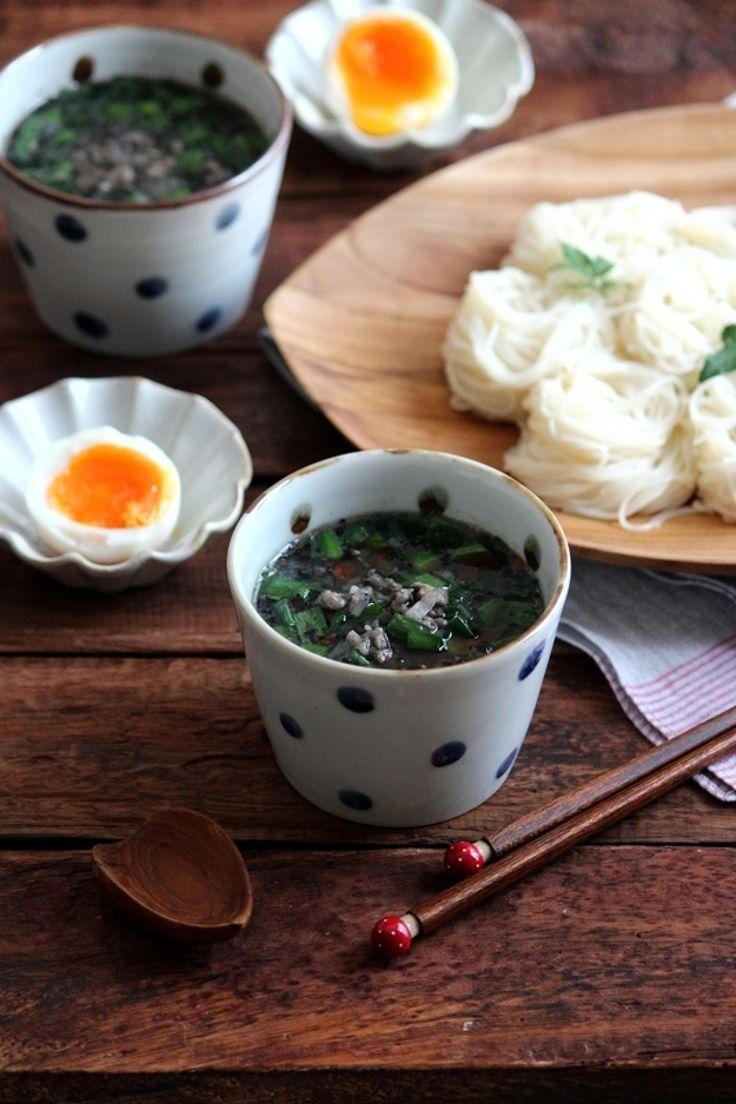 黒ごまとニラの坦々麺風つけそうめん。 by 栁川かおり | レシピサイト「Nadia | ナディア」プロの料理を無料で検索