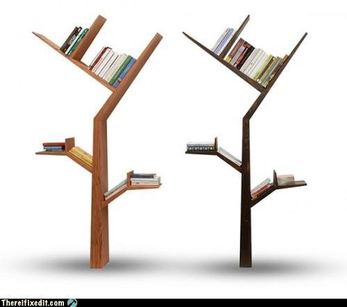 Tree bookcase: Booktrees, Idea, Book Shelves, Trees Bookshelf, Bookca, Book Trees, Design, Creative Bookshelves, Tree Bookshelf