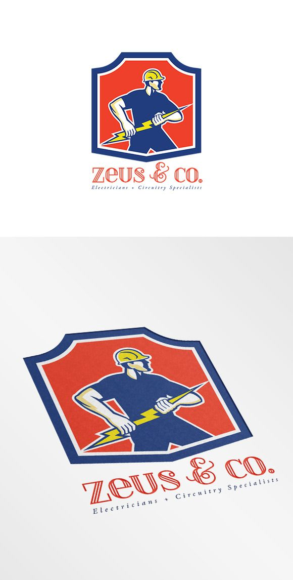Zeus and Co Electricians Logo by patrimonio on Creative Market