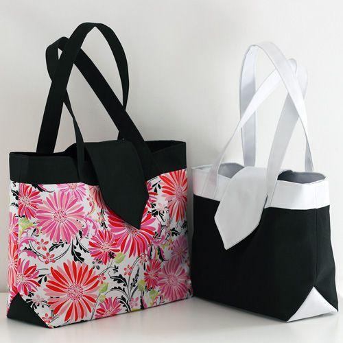 Madison est un patron de couture d'élégant sac compartimenté. #couture #patron #sac: