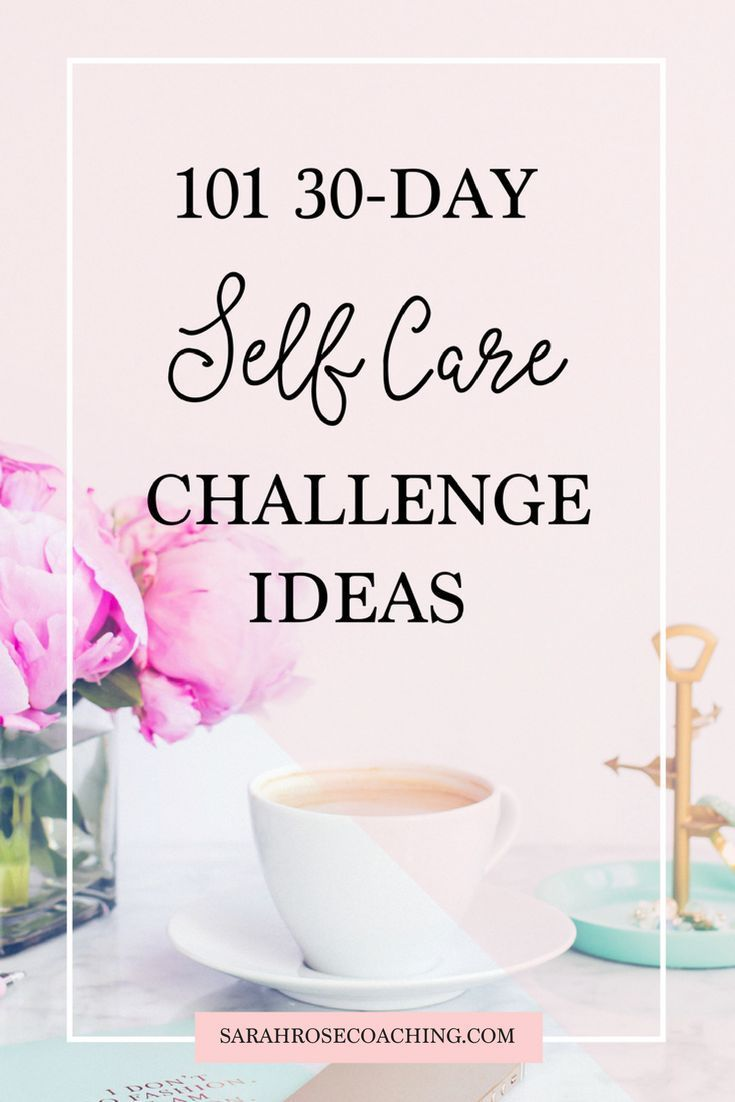 101 30-Day Self-Care Challenge Ideas   Who doesn't love a 30-Day Challenge?! Try out one of these ideas for 30 days and see how much of a boost you can add to your happiness. Simple changes can add a whole lot of awesomeness to your life and you don't have to change your entire schedule around to do it! Let's do this!