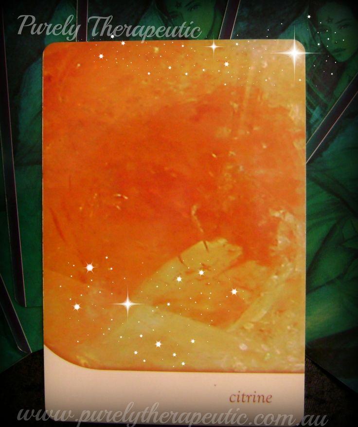CITRINE – wealth, creativity, abundance, healing 'Crystal Oracle' by Toni Carmine Salerno Purely Therapeutic ♥ www.purelytherapeutic.com.au https://instagram.com/purelytherapeutic