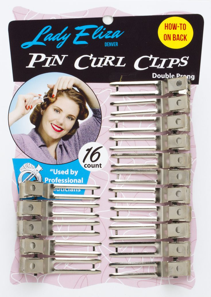 Lady Eliza Pin Curl Clips - Great clips for setting vintage pin curls and holding curls for cooling. VintageHairstyling.com