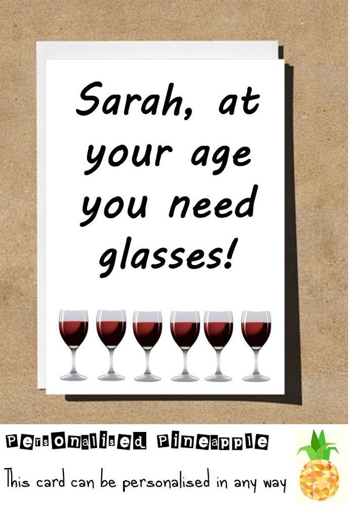 Details About Wine Glasses Birthday Card Funny Banter Humour Can Be