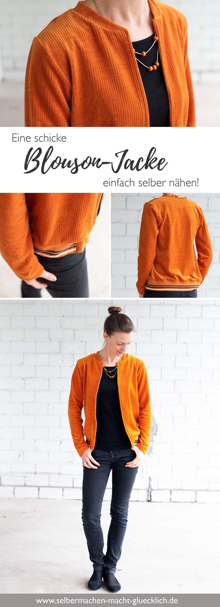 So nähst du dir eine schicke Blouson-Jacke schnell & einfach selber!