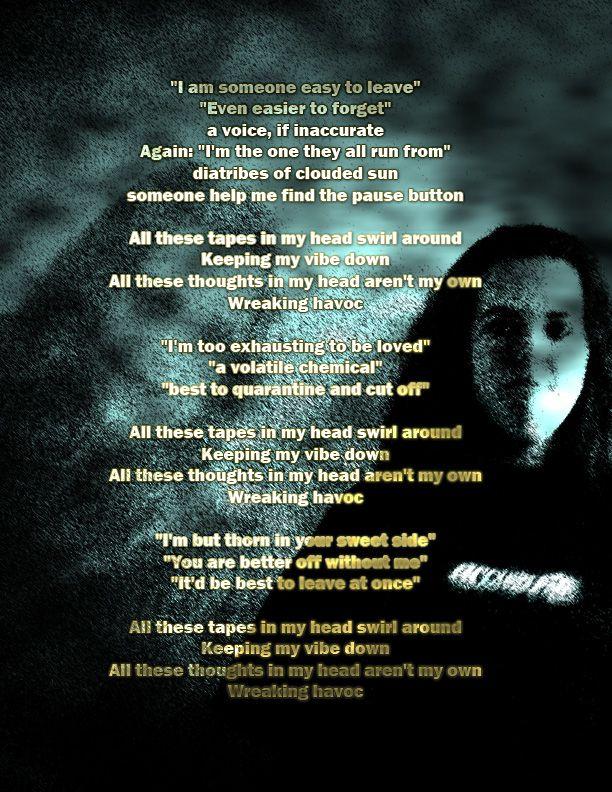 Tapes / Graphic Design Art (Alanis Morrisette Lyrics)