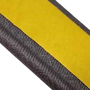 Instabind regular style mimics standard or traditional binding but without showing any stitching. Available in 22 stock colors, it's more durable than traditional binding and actually helps reinforce the carpet backing along the cut edges.