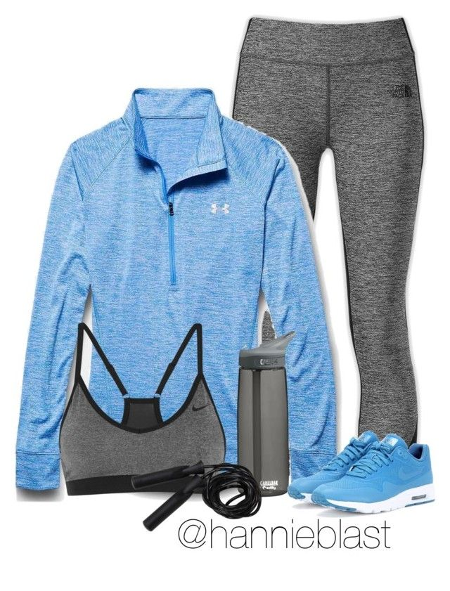 """""""#workinout #jumprope"""" by diamond-arrow ❤ liked on Polyvore featuring The North Face, Under Armour, NIKE, CamelBak, jumprope, workinout and growingmuscle"""