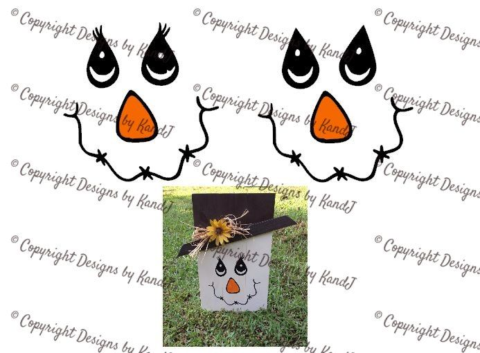 Printable Scarecrow Face Template scarecrow lady and man face svg ...