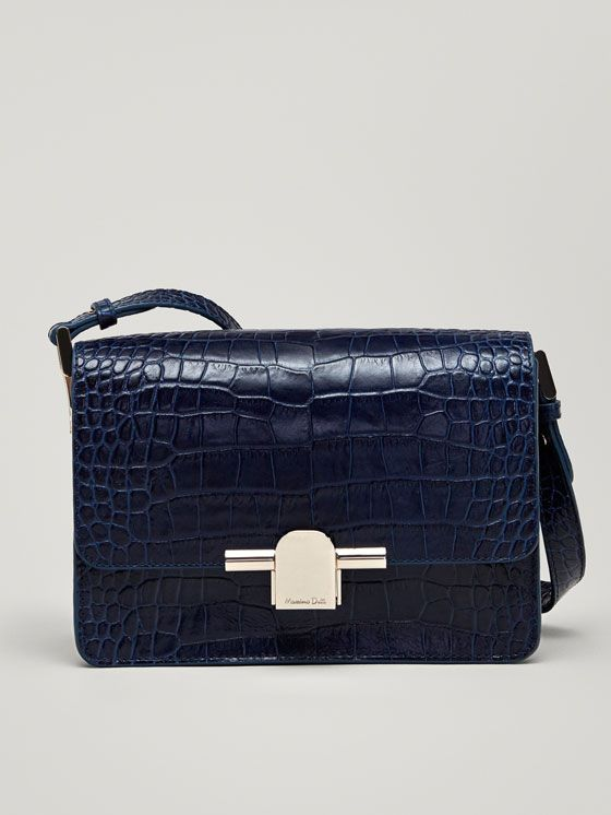 cc1b356047a Spring Summer 2018 Women´s LEATHER CROSSBODY BAG WITH MOCK CROC FINISH at  Massimo Dutti for 160. Effortless elegance!