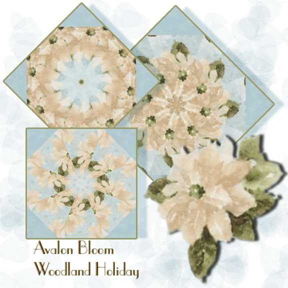 Woodland Holiday Kaleidoscope Quilt Block Kit Woodland Holiday for the holiday season with a painterly technique – somewhat traditional with fresh, modern colors. Wilmington Prints Pattern Q1409 86395 417. The colors include Mist Blue, Frost and Sage Green. The precut corners are included. This is a precut kit to sew a set of 12 kaleidoscope quilt blocks. Finished dimension for all blocks sewn together is 24 X 32 inches Each block measures 8 1/2 inches square when sewn.