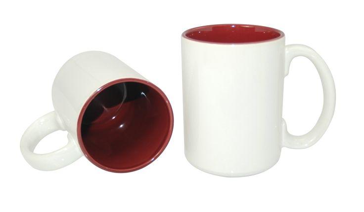 15oz Two-Tone Mug-Maroon