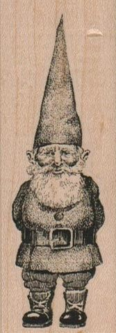 Hobbit Rubber stamp medium gnome  wood Mounted  by pinkflamingo61 on Etsy, $6.00