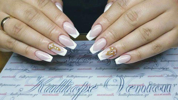 #nails #frenchnails #acrylicnails #swarovskicrystals #kalliopeveniou  #viphall