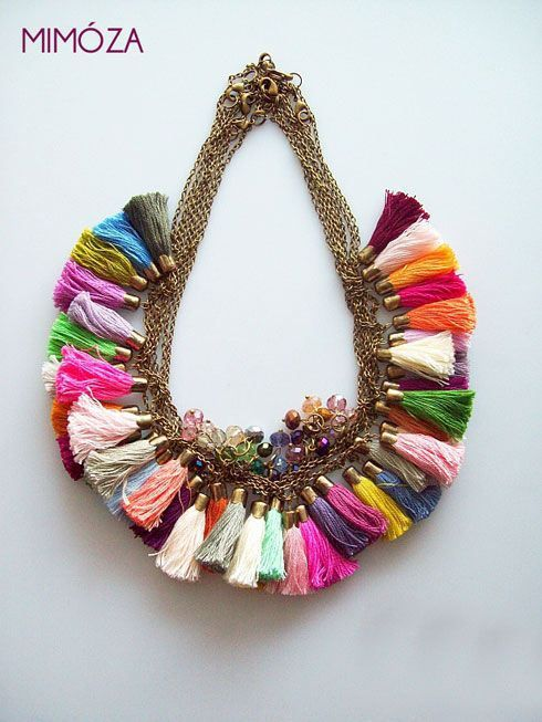 xx..tracy porter ..poetic wanderlust...-Mimoza via India Pied a Terre...love this colorful tassel necklace ♥