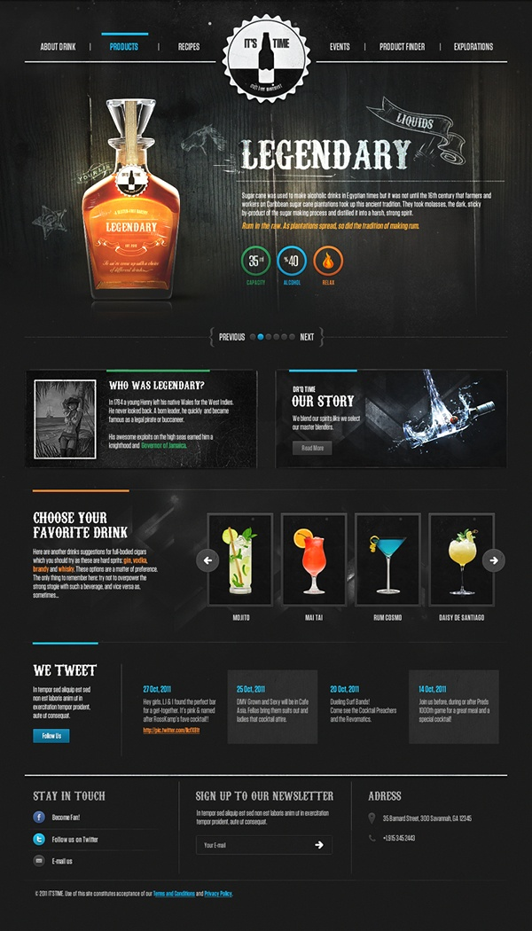 Unique Web Design, It's Drink Time via @benjiridesagain // Hi Friends, look what I just found on #web #design! Make sure to follow us @moirestudiosjkt to see more pins like this | Moire Studios is a thriving website and graphic design studio based in Jakarta, Indonesia.