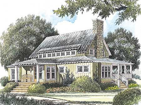 Plan 56152AD: Getaway Cottage with Unfinished Loft
