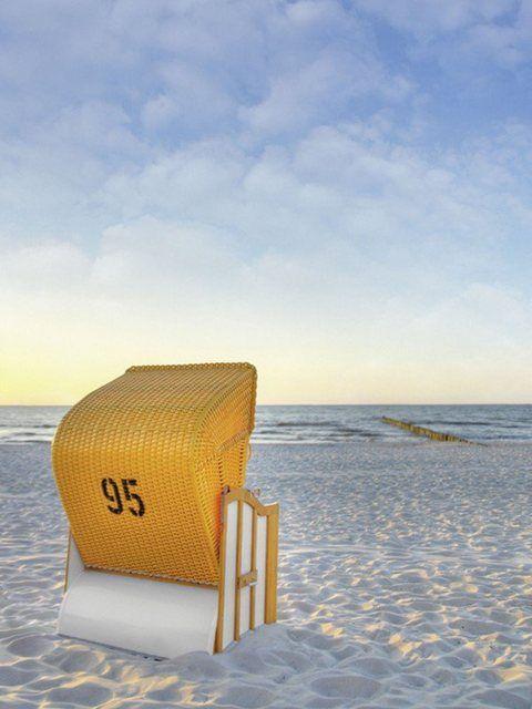 Poster oder Leinwandbild »DeVIce: Ostsee7 – Strandkorb«