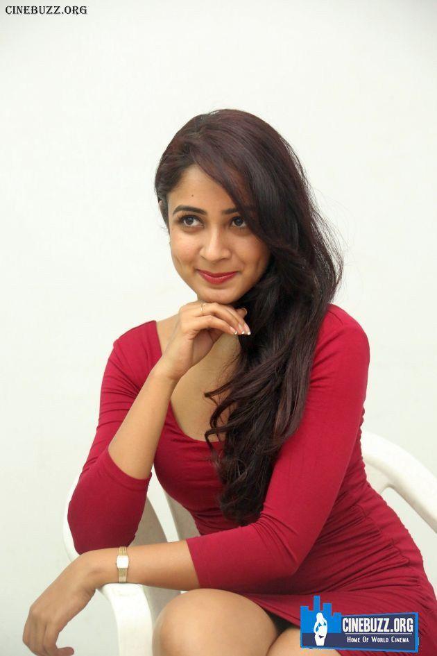 Hot Pics of Aditi Chengappa in Red Dress