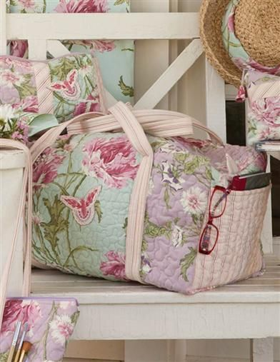 April Cornell Wanderlust Weekender - Floral Quilted Weekend Bag