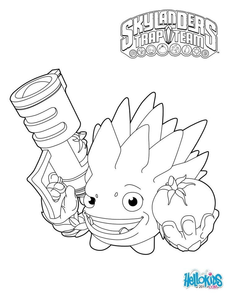 crusher skylander coloring page skylanders color team color - Coloring Pages Skylanders