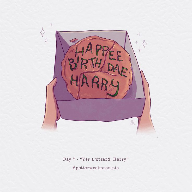 "Day 7 - ""Yer a wizard, Harry"" Last day! Happy b-day Harry and J.K!"