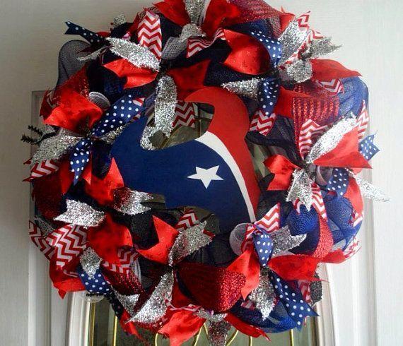 Houston Texans Football NFL Front Door Wreath