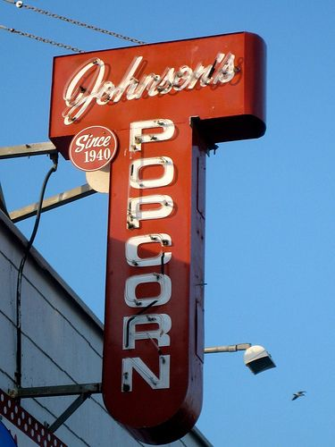 "Johnson's Popcorn, Ocean City via Retro Roadmap's ""Vintage Seaside Sweets and Treats."""
