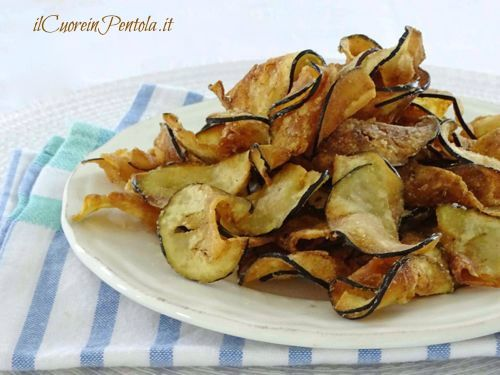 Chips di melanzanehttp://www.ilcuoreinpentola.it/ricette/chips-di-melanzane/