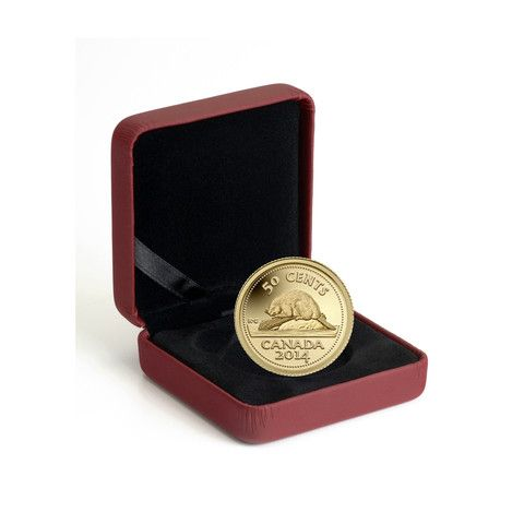 2014 Pure Gold Beaver Coin from the world famous Royal Canadian Mint.