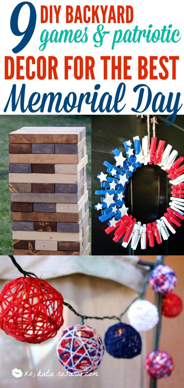 9 Clever Patriotic Diy Projects Decor Ideas For Memorial Day Patriotic Diy Patriotic Decorations Diy Memorial Day