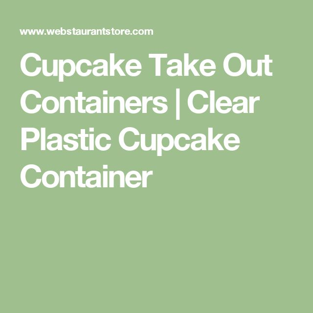 Cupcake Take Out Containers | Clear Plastic Cupcake Container