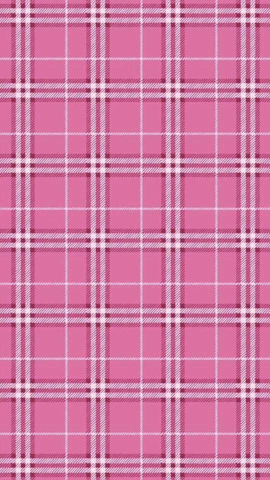 iPhone 5 pink tartan wallpaper