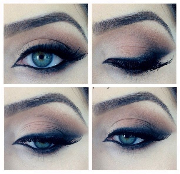 smokey shadow for blue eyes (great brows too!)