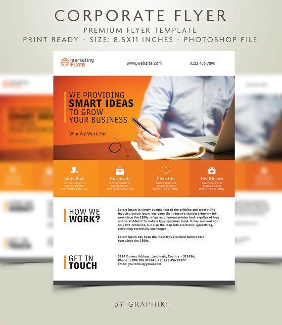 Entreprise Flyer - Creative Marketing, investissement, finances, affaires, entreprise modèle de flyer format lettre - Simple, propre INSTANT DOWNLOAD