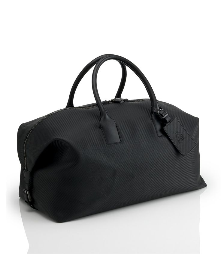 Alfred Dunhill Chassis carbon weave leather holdall