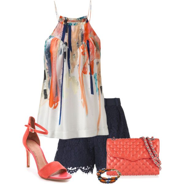 A fashion look from August 2014 featuring Twenty8Twelve tops, Whistles shorts and Joie sandals. Browse and shop related looks.