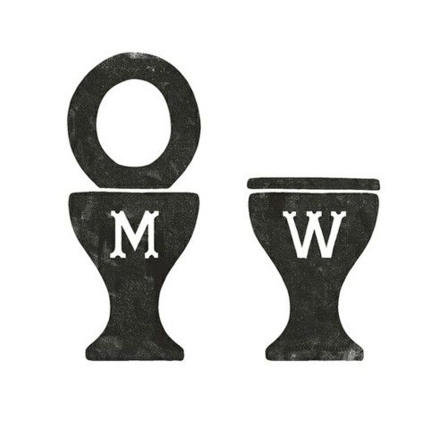 Bathroom Signs The Restaurant And Restaurant On Pinterest