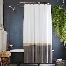 Shower Curtains, Modern & Fabric Shower Curtains | west elm