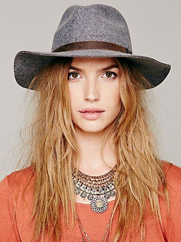 With a wide brimmed hat, you can add flare to any outfit.