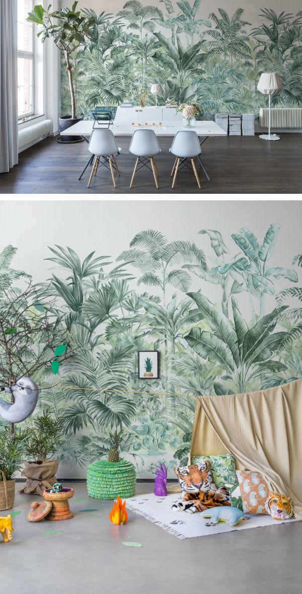 Pride Palms Emerald In 2020 Kinderzimmer Tapete Dschungel Tapete Und Palme Tapete
