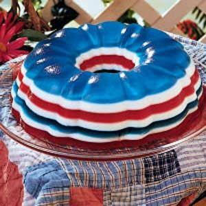 Patriotic JelloPatriots Gelatin, Jello Recipe, Patriots Desserts, Red White Blue, Salad Recipe, 4Th Of July, Gelatin Salad, Jello Moldings, Jello Salad