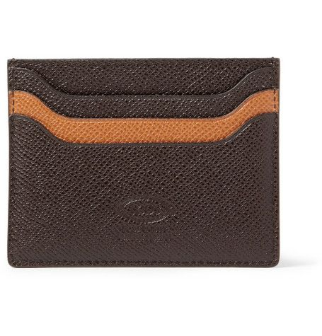 #Tod's Cross-Grain Leather Cardholder