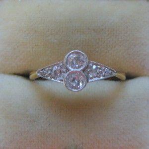 Two stone diamond engagement ring