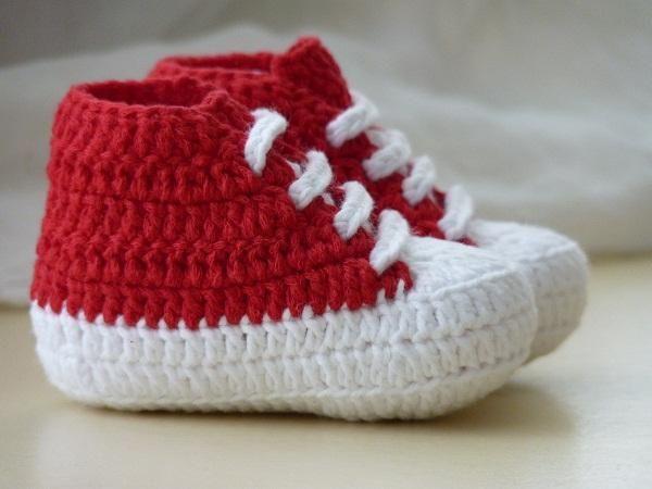 Converse tarzı kırmızı bebek patiği emeksensin.com/kuzugag