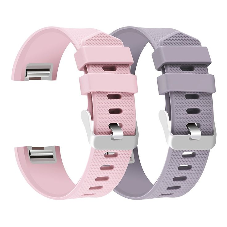 Charge 2 Band Replacement,Classic Silicone Band Accessories Adjustable Strap Belt For Fitbit Charge 2 Heart Rate Fitness Wristband (Blush Pink+Lavender)