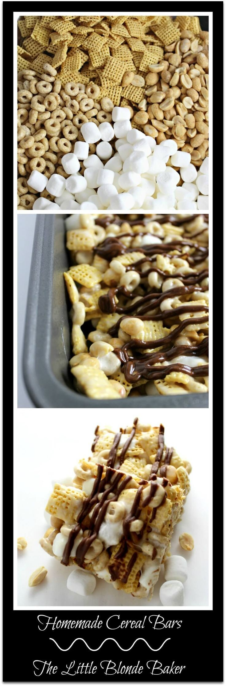 Homemade Cereal Bars, a step up from rice crispy treats. A great combo of sweet and salty.